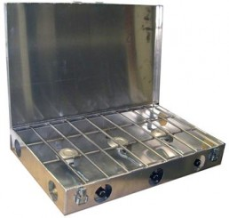 3 Burner Stove with Wind Screen attached 1